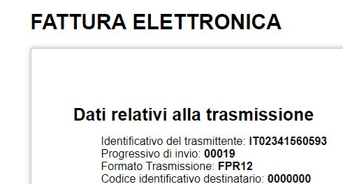 Fattura Elettronica